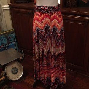 Renee C. Colorful Maxi Skirt/Strapless Dress
